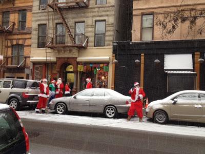 Santa Con and Snow Storm